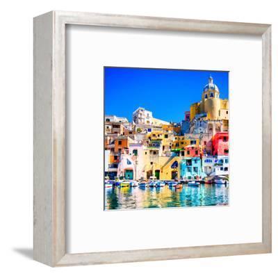 Procida Island Naples - Italy--Framed Art Print