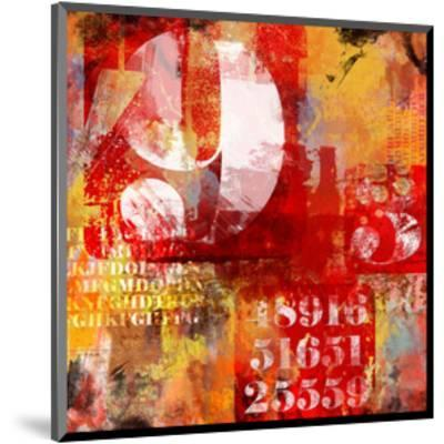 Number & Text Abstract Collage--Mounted Art Print