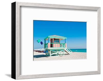 Lifeguard Tower South Beach FL--Framed Art Print