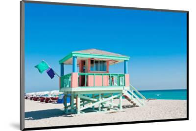 Lifeguard Tower South Beach FL--Mounted Art Print