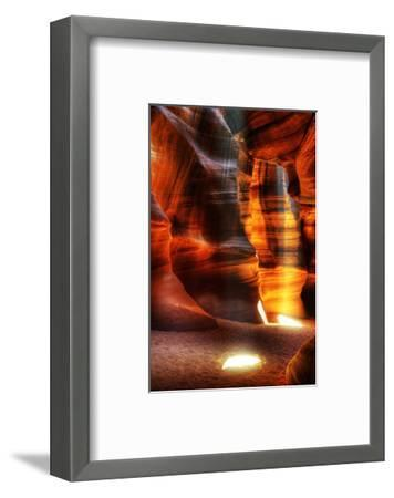 Rays Antelope Canyon Page AZ--Framed Art Print