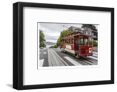 Cable Car in San Francisco--Framed Art Print
