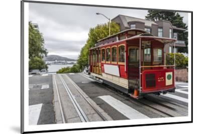Cable Car in San Francisco--Mounted Art Print