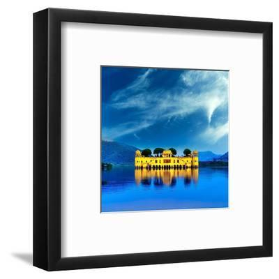 Jal Mahal & Lake Jaipur India--Framed Art Print