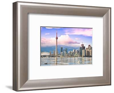 Toronto Skyline Center Island--Framed Art Print