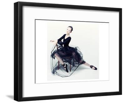 Resting Ballerina--Framed Art Print