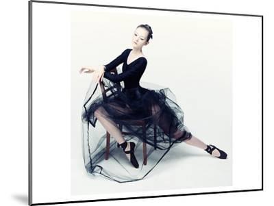 Resting Ballerina--Mounted Art Print