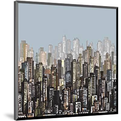 Cityscape Skyscrapers & Sky--Mounted Art Print