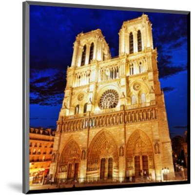 Notre Dame Cathedral Paris--Mounted Art Print
