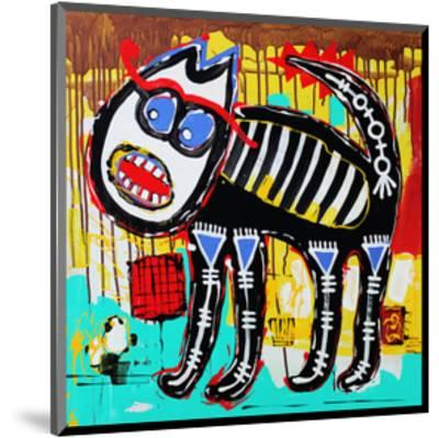 Angry Cat Doodle Acrylic Paint--Mounted Art Print