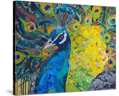 Poised Peacock #2--Stretched Canvas Print