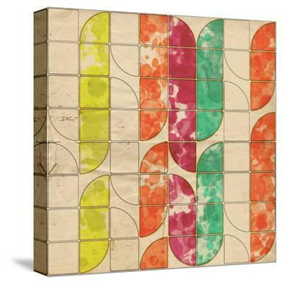 Geometric Color Shape XI--Stretched Canvas Print