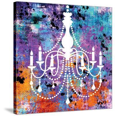 Neon Chandelier II-Miranda York-Stretched Canvas Print