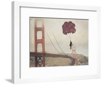 Golden Gate Ballons-Ashley Davis-Framed Art Print