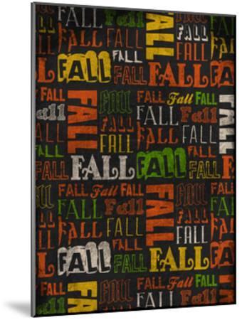 Fall Typo 2-Jace Grey-Mounted Art Print