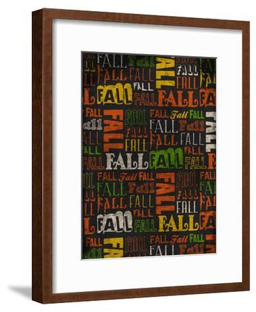 Fall Typo 2-Jace Grey-Framed Art Print