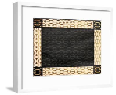 Chain Link Bordered-Jace Grey-Framed Art Print