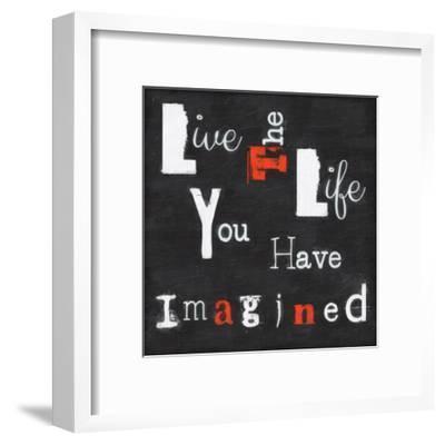 Live The Life-Taylor Greene-Framed Art Print