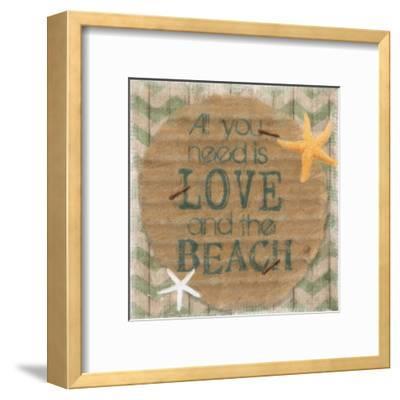 Love And The Beach-Taylor Greene-Framed Art Print