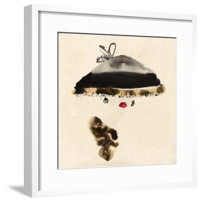 The Leopard Trimmed Hat-Bridget Davies-Framed Giclee Print