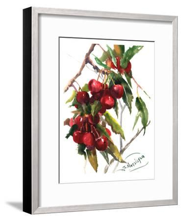 Cherries-Suren Nersisyan-Framed Art Print