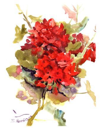 Geranium-Suren Nersisyan-Framed Art Print
