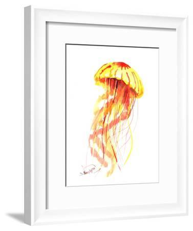 Jellyfish Fire-Suren Nersisyan-Framed Art Print