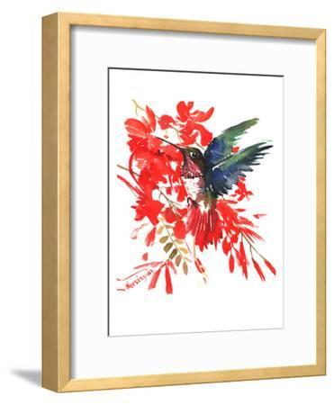 Humingbird-Suren Nersisyan-Framed Art Print