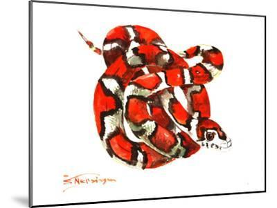 Red Milk Snake-Suren Nersisyan-Mounted Art Print