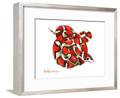 Red Milk Snake-Suren Nersisyan-Framed Art Print