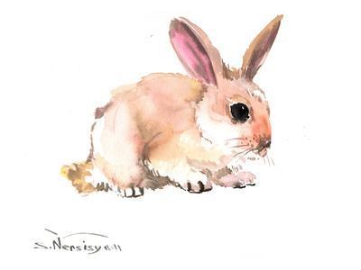 Bunny 4-Suren Nersisyan-Framed Art Print