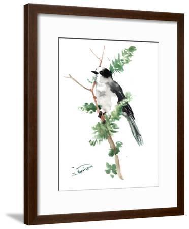 Gray Jay-Suren Nersisyan-Framed Art Print