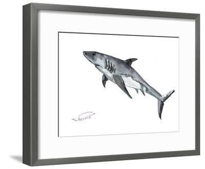 Shark-Suren Nersisyan-Framed Art Print
