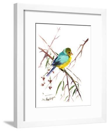Green Finch-Suren Nersisyan-Framed Art Print