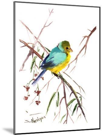Green Finch-Suren Nersisyan-Mounted Art Print