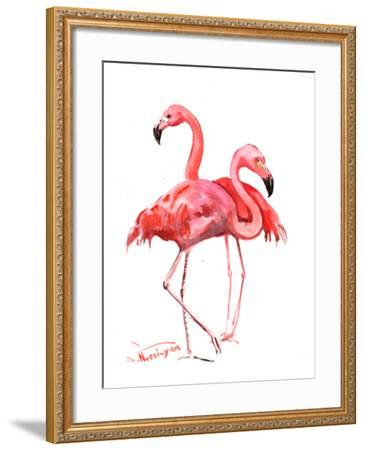 Flamingos-Suren Nersisyan-Framed Art Print
