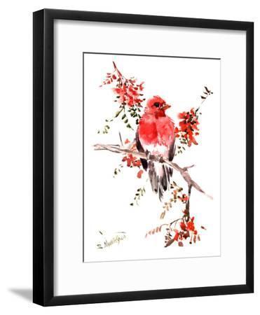 Rosefinch-Suren Nersisyan-Framed Art Print