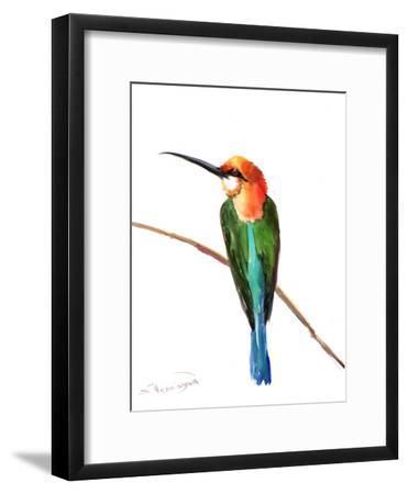 Green Bee Eater 3-Suren Nersisyan-Framed Art Print