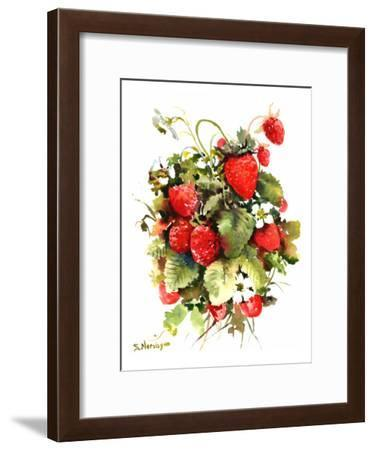 Strawberries-Suren Nersisyan-Framed Art Print