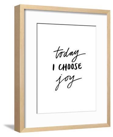 Today I Choose Joy-Brett Wilson-Framed Art Print