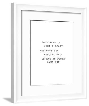 Your Past Is Just A Story-Brett Wilson-Framed Art Print