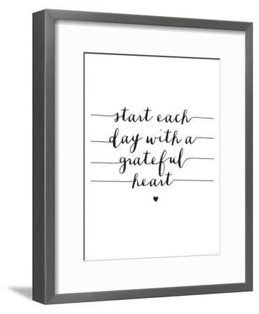 Start Each Day With A Grateful Heart-Brett Wilson-Framed Art Print