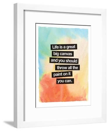 Life Is A Great Big Canvas-Brett Wilson-Framed Art Print