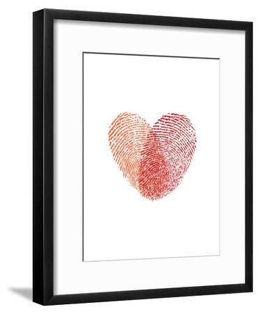 Love Heart Fingerprints-Brett Wilson-Framed Art Print