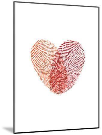 Love Heart Fingerprints-Brett Wilson-Mounted Art Print