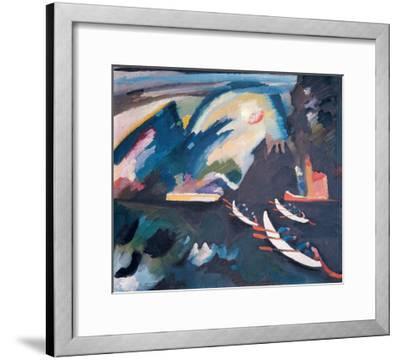 Lake, 1910-Wassily Kandinsky-Framed Giclee Print