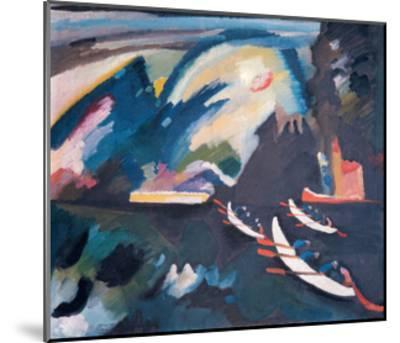 Lake, 1910-Wassily Kandinsky-Mounted Giclee Print