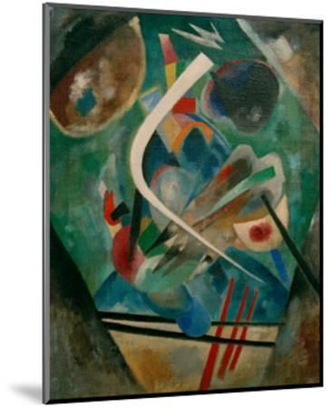 White Line, 1920-Wassily Kandinsky-Mounted Giclee Print