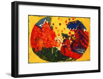 Mountains, 1911-Wassily Kandinsky-Framed Giclee Print