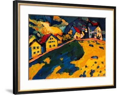 Houses on a Hill, 1909-Wassily Kandinsky-Framed Giclee Print